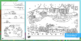 Treasures in the Garden Colouring Pages - colour, shade, decorate, pattern, growth mindset