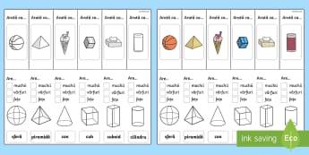 Suport vizual - Proprietățile corpurilor 3D - corpuri tridimensionale, geometrie, matematică, planșe, fișe, interactiv, planșe, 3d, corpuri 3d