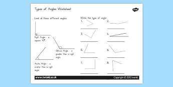 Acute and Obtuse Angles Worksheet - australia, acute, obtuse