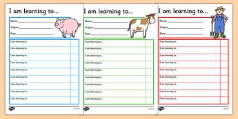 Farm Themed Target and Achievement Sheets - farm, target and achievement, target, achievement, sheets