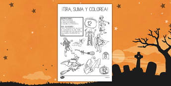 Halloween Roll and Colour Activity Sheet - halloween, activity, sheet, worksheet, colour, number, recognition, skills
