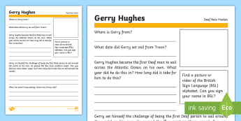 Deaf Role Models Gerry Hughes Research Activity - Deaf, Identity, culture, community, British Sign Language, BSL, hearing impaired, ICT
