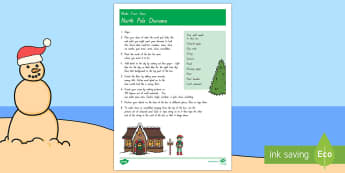 North Pole Diorama Craft Instructions - New Zealand, Christmas, North Pole, Santa, Diorama, Art activity, Art Project, end of year