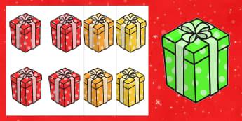 Editable Christmas Presents - Christmas, xmas, present, editable, tree, advent, nativity, santa, father christmas, Jesus, tree, stocking, present, activity, cracker, angel, snowman, advent , bauble