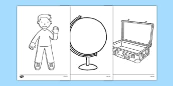 Flat Boy Colouring Sheets - flat stanley, flat boy, jeff brown, colouring sheets, colour