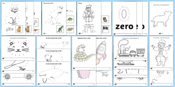 Dot to Dot - - dot to dot, numbers, letters, fine motor skills, pencil control, sen,
