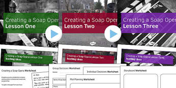 Soap Opera Resource Pack 3: Creating a Soap Opera Lesson Pack - creating