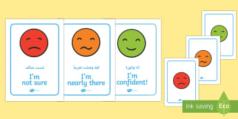 Emotion Communication Display Posters Arabic/English - Emotion Communication Display Posters, Communication, emotions, communication cards, traffic lights,