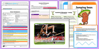 Foundation PE (Reception) - Games - The Olympics Lesson Pack 6: Jump It - EYFS, PE, Physical Development, Planning