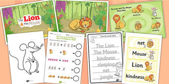 The Lion And The Mouse Resource Pack - pack, fable, lion, mouse
