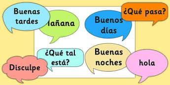 Social Greetings Prompt Cards Spanish - spanish, social greeting, prompt, cards
