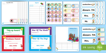 School Role Play Pack - Role Play Pack - School Role Play Pack, school role play, register, teacher, stickers, certificates, reading diary, role play, display, poster, role play, Display signs, display, labels, pack