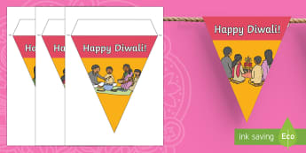 Happy Diwali Display Bunting