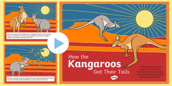 Aboriginal Dreamtime How the Kangaroos Got Their Tails Story - australia, aboriginal, story, dreamtime, how the kangaroos got their tails, tale