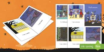 Halloween Emergent Reader - Halloween, Autumn, Fall, Pumpkins, Reading, ELA, Emergent