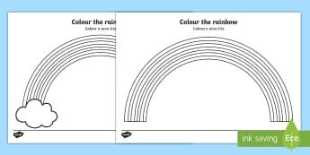 Colour the Rainbow Activity Sheet English/Portuguese - Colour the Rainbow Worksheet - Rainbow colouring sheet, colouring sheet, colour, seasons, rainbow, n