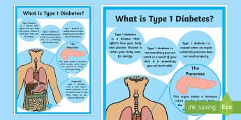 CfE Type 1 Diabetes Poster 2xA4 - cfe, type 1 diabetes, poster, display poster
