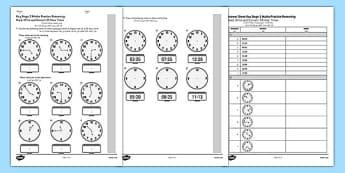 KS2 Reasoning Test Practice Read, Write and Convert 24 Hour Times Arabic Translation - arabic, eal, reason, key stage 2, ks 2, clock, time, minutes, hours, measure, maths, mathematics, telling, 24