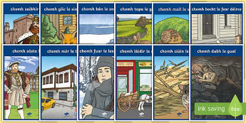 Irish Similes Display Posters Gaeilge