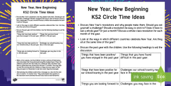 KS2 New Year Circle Time Teaching Ideas - New Year, new, new beginning, calendar, January, February, March, April, May, June, July, August, Se