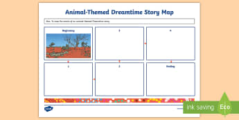 Animal-Themed Dreamtime Story Map Activity Sheet - Aboriginal, dreaming, storytelling, indigenous, history,worksheet, aboriginal culture,Australia