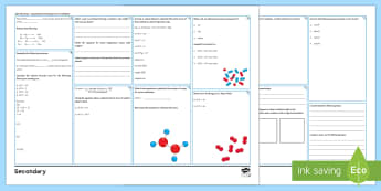 AQA Chemistry GCSE: Unit 4.3 Quantitative Chemistry Higher Revision Activity Mat  - quantities, calculations, moles, mass, equations, reactions, concentrations