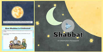 All About Shabbat PowerPoint - shabbat, powerpoint, information