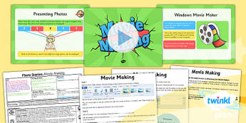 Computing: Photo Stories: Movie Making Year 4 Lesson Pack 4