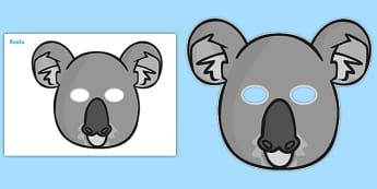 Koala Role Play Masks