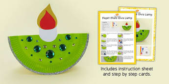 Paper Plate Diva Lamp Craft Instructions - paper plate, diva lamp, craft, instructions