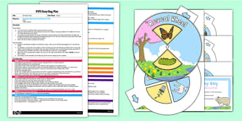 Spring EYFS Busy Bag Plan and Resource Pack - Spring, baby animals, reveal wheel