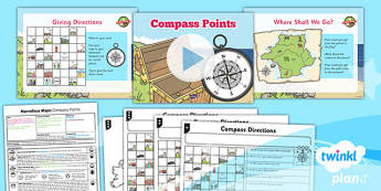 PlanIt - Geography Year 5 - Marvellous Maps Lesson 3: Compass Points Lesson Pack