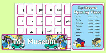Toy Museum Role Play Pack - toy museum, toys, play, role play, museum, pack