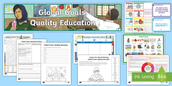 Global Goals Quality Education CfE Second Level IDL and Resource Pack - Learning For Sustainability, UNICEF, Inclusive Education, Education For All, Lifelong Learning,,Scot