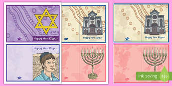 Yom Kippur Greeting Card Activity