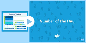 Number of the Day PowerPoint  - Back to School, maths, numbers, nz, challenge, morning activities, register, maths starters, mental