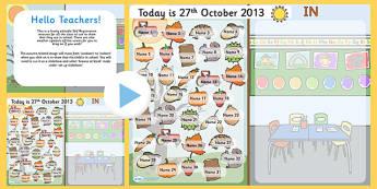 Autumn Self Reg Seasonal PowerPoint - self registration, autumn, self registration powerpoint, autumn powerpoint, seasonal, self reg, interactive