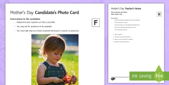 Mother's Day Foundation and Higher Tier Speaking Photo Stimulus Cards French - KS4, French, Mother's Day, fête, mères, picture, GCSE, speaking, foundation, higher, exam, identi