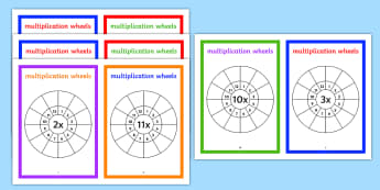 Multiplication Wheels Maths Challenge Booklet - multiplication wheels, maths, challenge, booklet