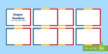 România - Cartonașe editabile în alb  - România, română, cartonașe editabile, română, materiale, scriere, 1 decembrie, curiozități,R
