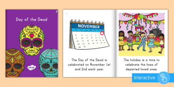 Day of the Dead Emergent Reader eBook - day of the dead, dia de los muertos, emergent reader, ebook, day of the dead ebook, dia de los muert