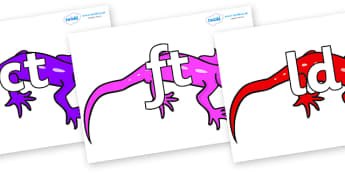 Final Letter Blends on Geckos - Final Letters, final letter, letter blend, letter blends, consonant, consonants, digraph, trigraph, literacy, alphabet, letters, foundation stage literacy
