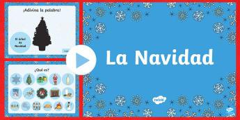 Christmas Vocabulary PowerPoint - Christmas, Spanish, vocabulary, powerpoint,