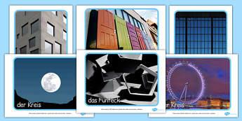 2D Shape Display Photos German - german, 2d shape, display, photos, 2d, shape, maths, numeracy
