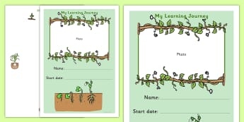 My Learning Journey Front Cover Growing Plants Themed - plants