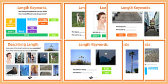 Maths Intervention Length Keyword Posters - SEN, special needs, intervention, maths, measure, length