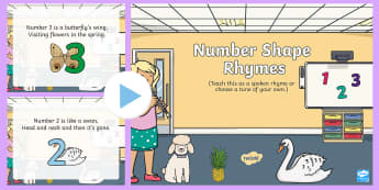 Number Shape Song PowerPoint - math, numeracy, numeral, numbers, number pictures, singing, song time