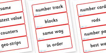 Year Three Numeracy Vocabulary Word Cards - General - word cards, numeracy word cards, numeracy vocabulary, word flash cards, flash cards, key words, maths