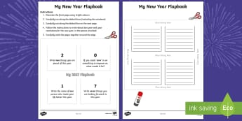 My 2017 Flapbook - KS1/2 New Year resources (January), January, December, months, year, new start, resolutions, improve
