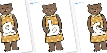 Phoneme Set on Mummy Bear - Phoneme set, phonemes, phoneme, Letters and Sounds, DfES, display, Phase 1, Phase 2, Phase 3, Phase 5, Foundation, Literacy